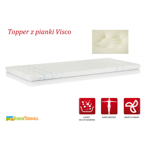 HEVEA TOPPER VISCO 200x180
